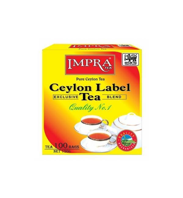 Чай черный Impra Ceylon Label Tea 165г (100 пак.)