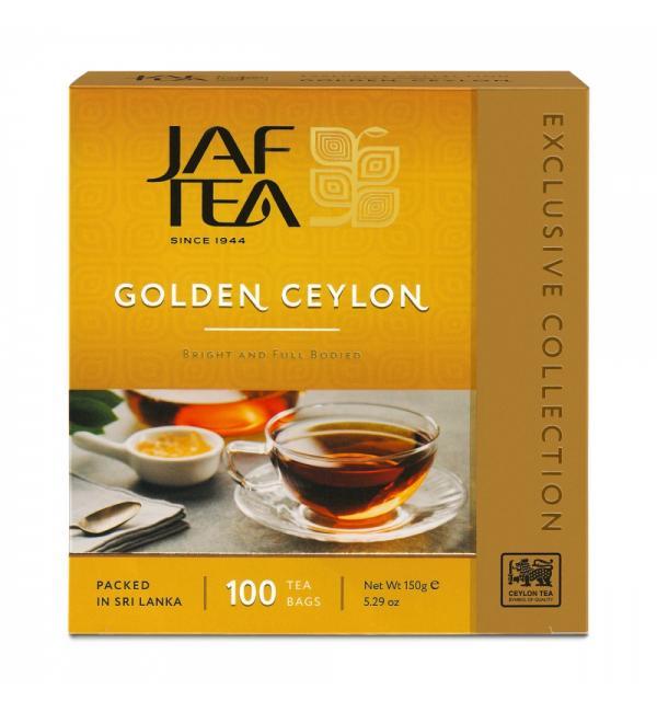 Чай черный Jaf Tea Golden Ceylon 150г (100пак.)