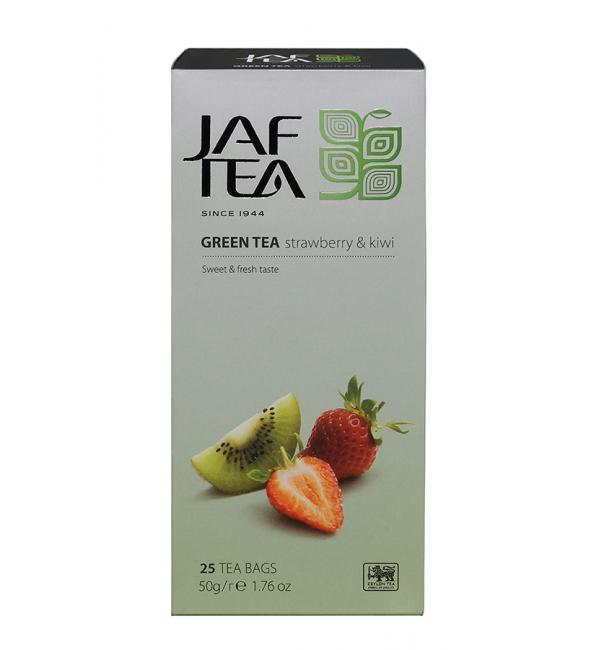 Чай зеленый Jaf Tea Strawberry & kiwi 50г (25 пак.)