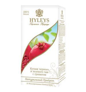 """Чай черный и зеленый HYLEYS  Гармония Природы """"С гранатом"""" 37,5г (25пак.)"""