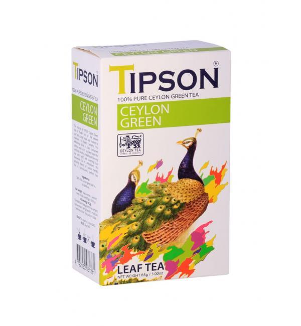 Чай зеленый Tipson Ceylon Green 100г