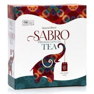 Чай черный Sabro Premium Ceylon Tea 200г (100 пак.)