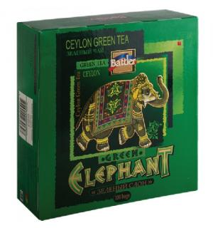 Чай зеленый Battler Green Elephant 200г (100пак.)