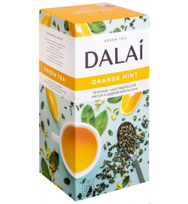 Чай зеленый Dalai Orange Mint 45г (25 пак.)