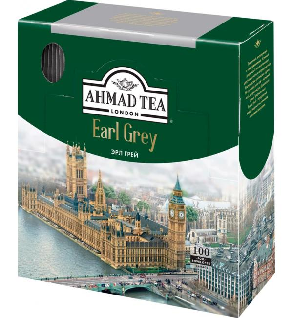 Чай черный Ahmad Tea Earl Grey 200г (100пак.)