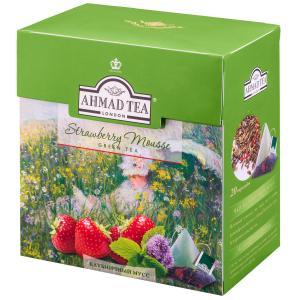 Чай зеленый Ahmad Tea Strawberry Mousse 36г (20пак.)