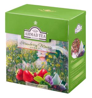 Чай зеленый Ahmad Tea Strawberry Mousse 36г (20пак.)