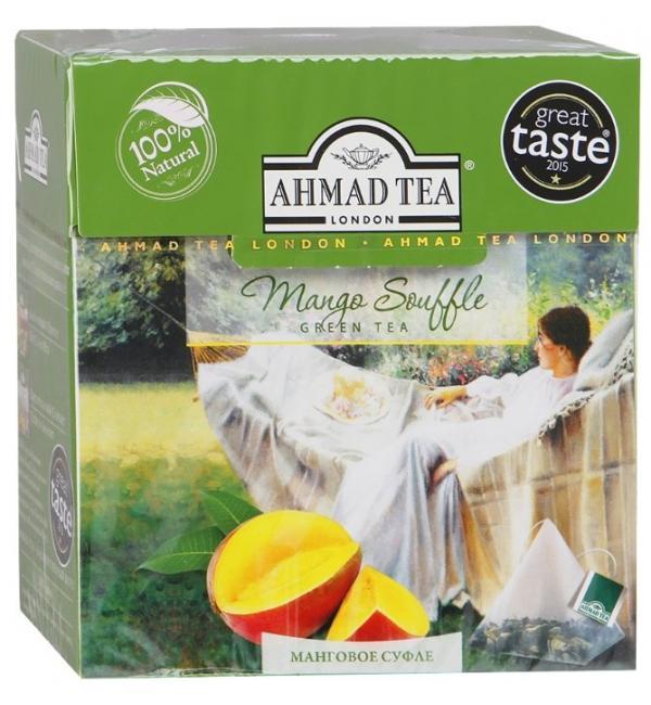 Чай зеленый Ahmad Tea Mango Souffle 36г (20пак.)
