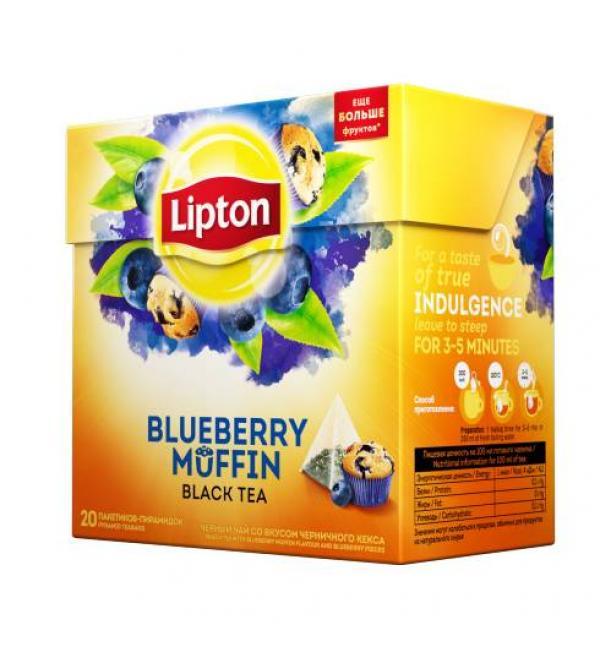 Чай черный Lipton Blueberry Muffin 32г (20 пак.)