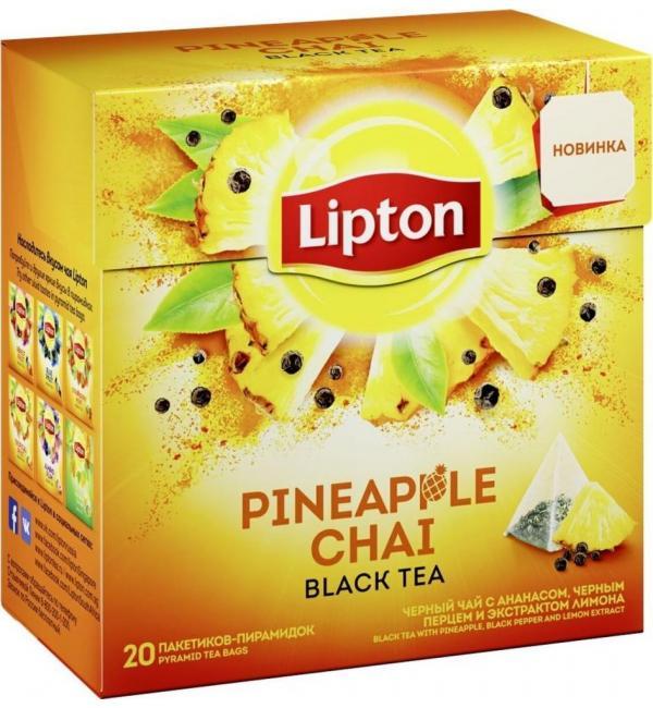 Чай черный Lipton Pineapple Chai 36г (20пак.)